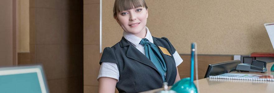 hôtesse d'accueil